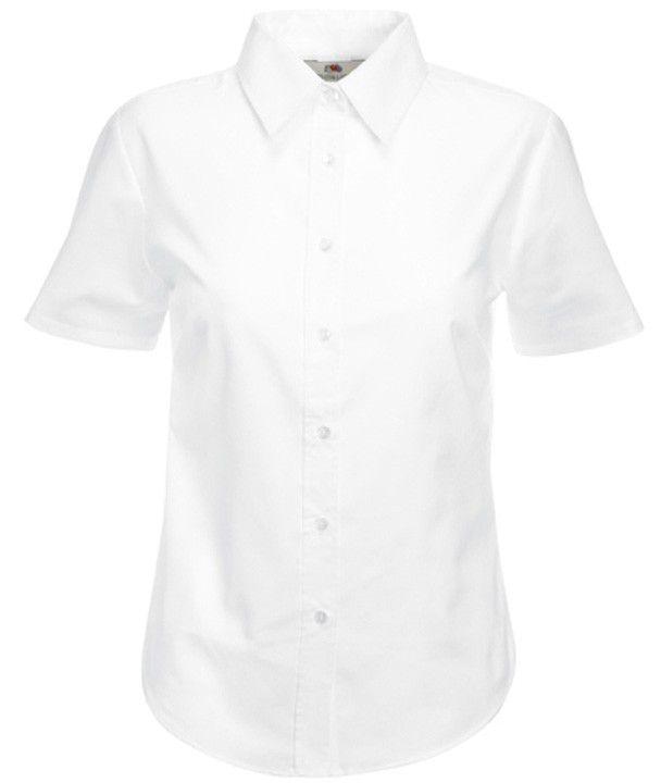 Koszula damska Fit SS Oxford Shirt Biała XXL :: Fruit Of  ZkZoI