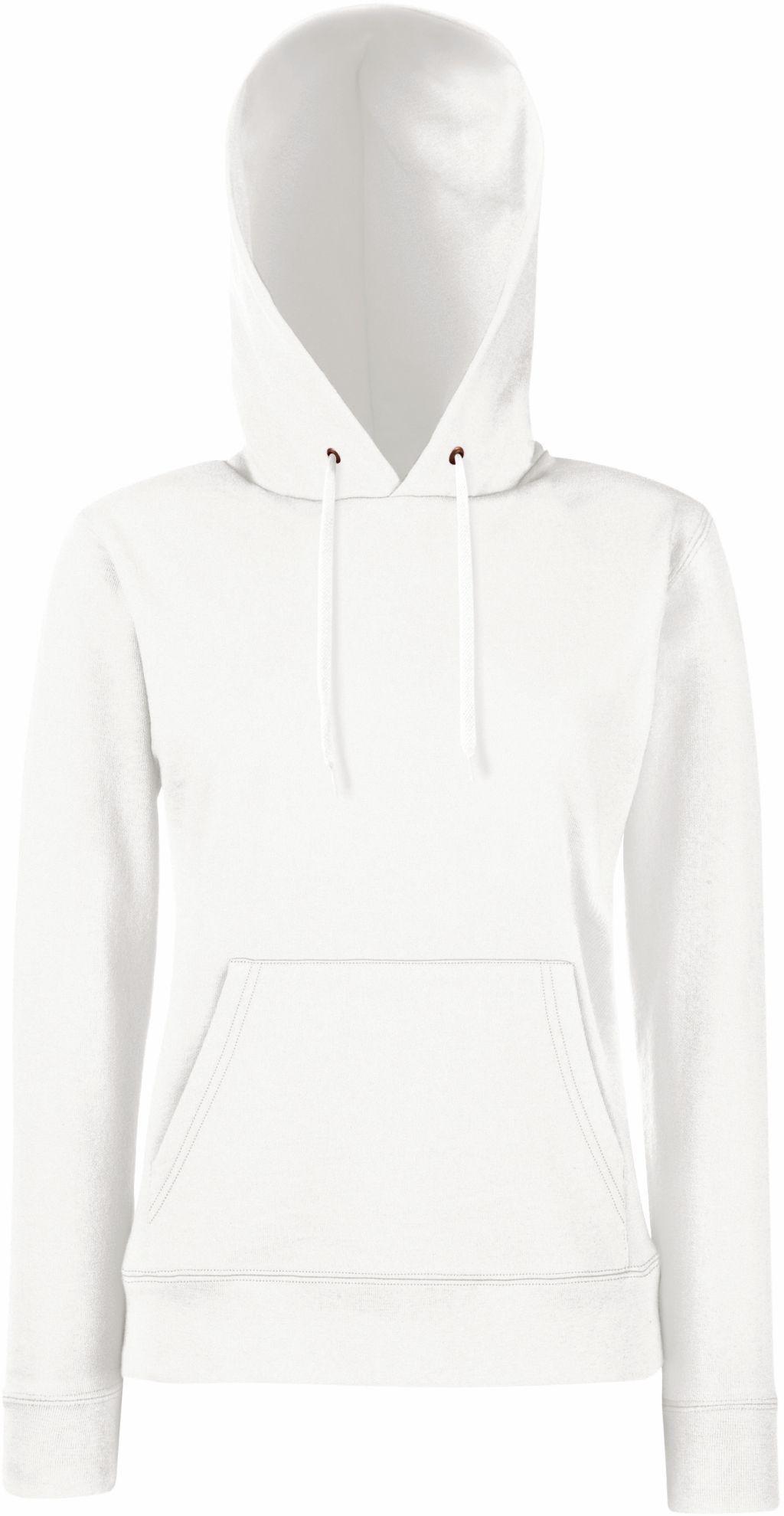 bluza damska z kapturem fruit biała