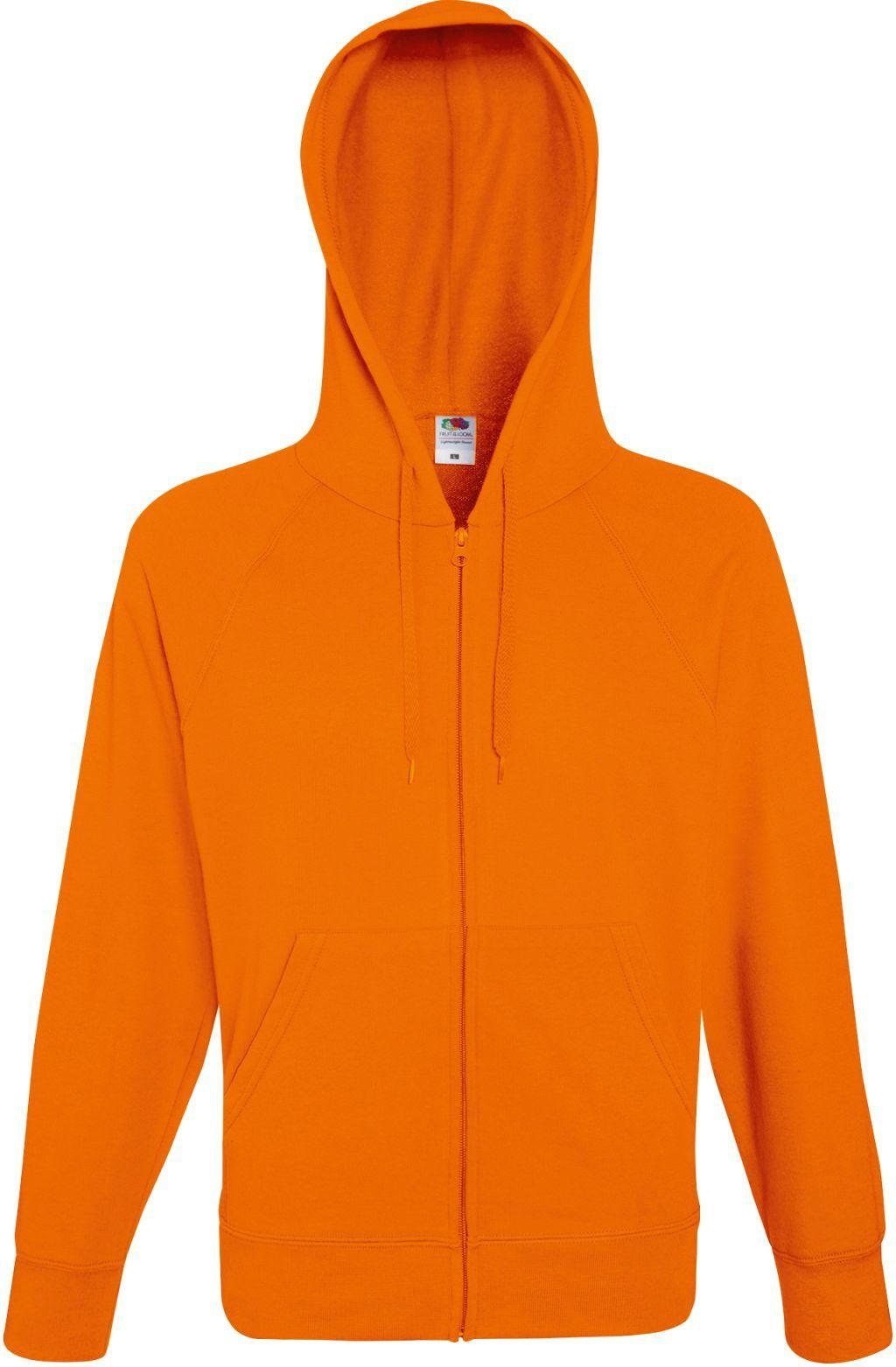 4edcac80da43 Bluza męska rozpinana z kapturem Lightweight Pomarańczowa M    Fruit ...