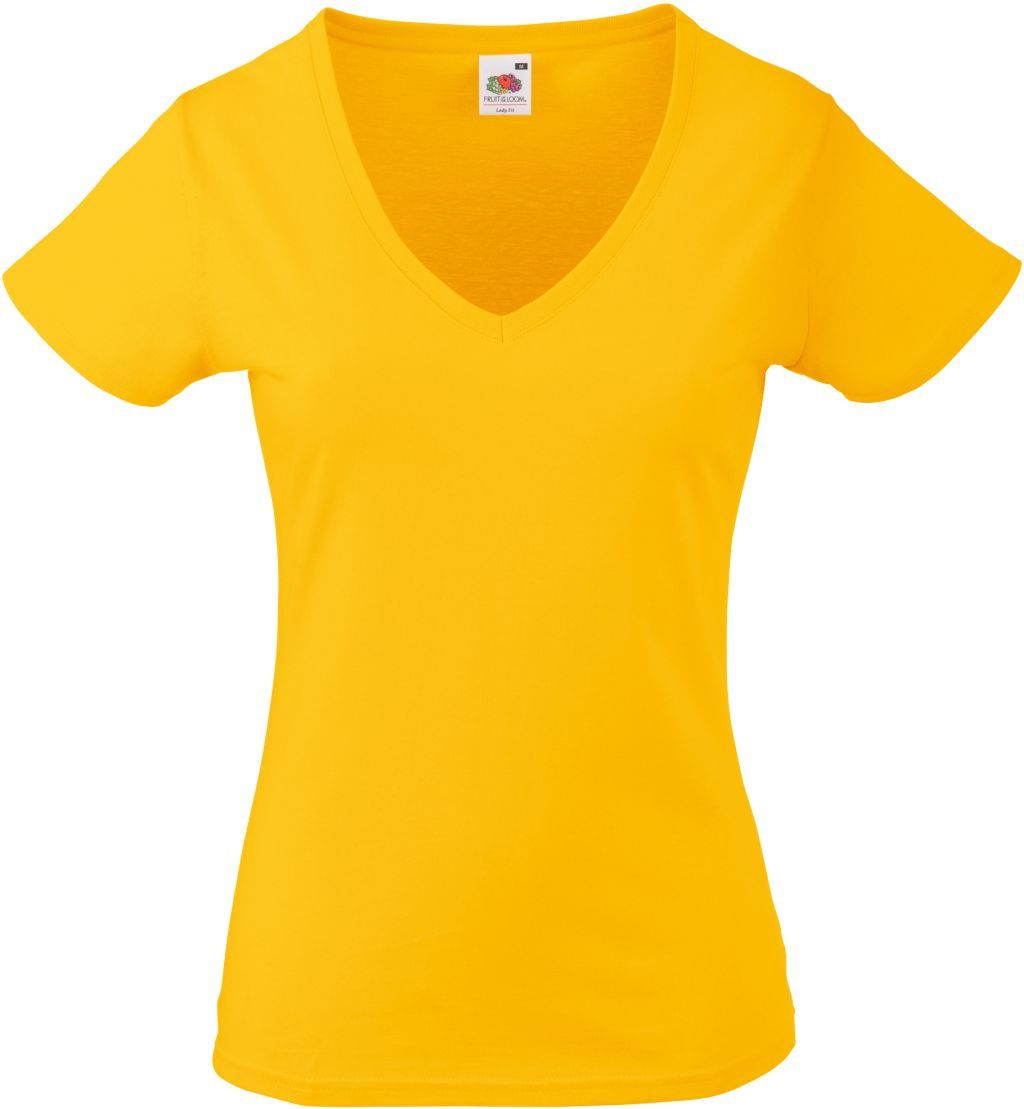90193f81384d74 Koszulka damska w serek Valueweight Ciemnożółta XL :: Fruit Of The Loom